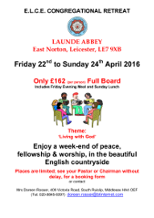 Launde Abbey Poster 2016
