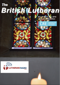 British Lutheran May 2016 Front Cover